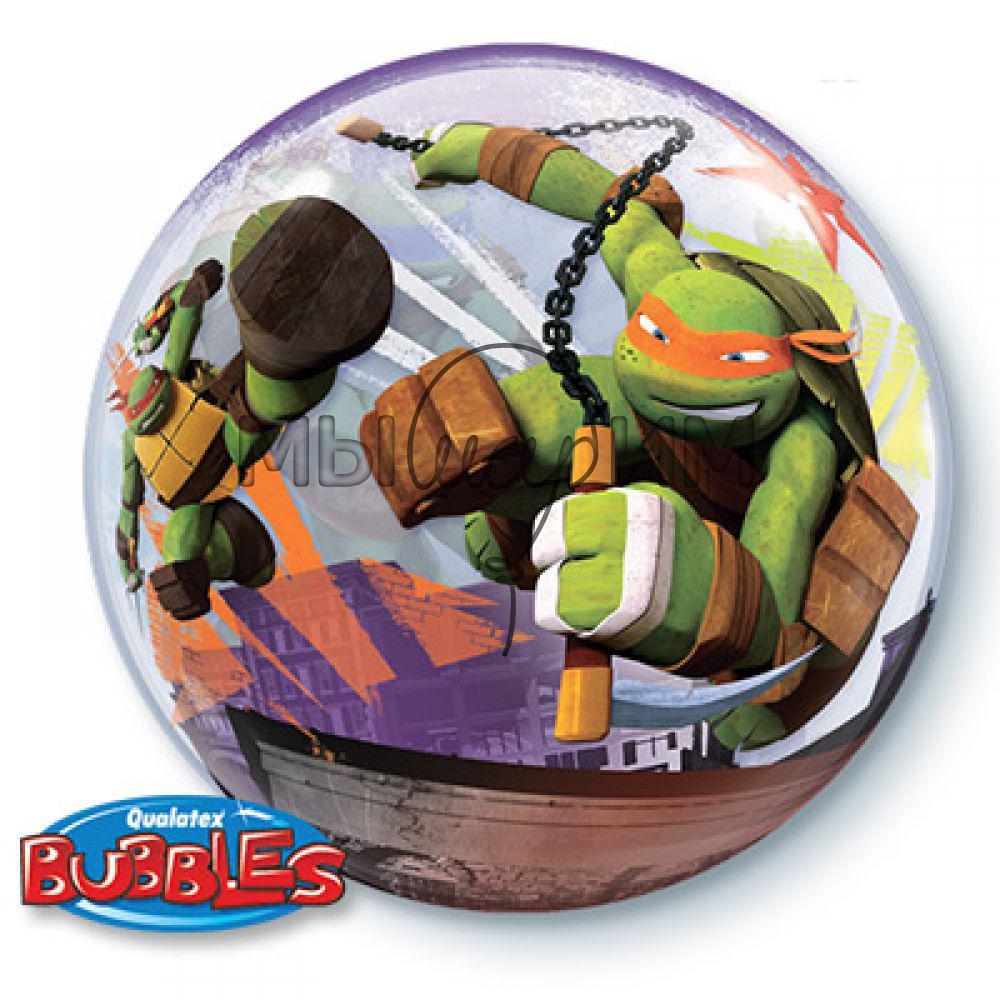 Купить Фольгированный шар BUBBLE 22 Черепашки Ниндзя ...